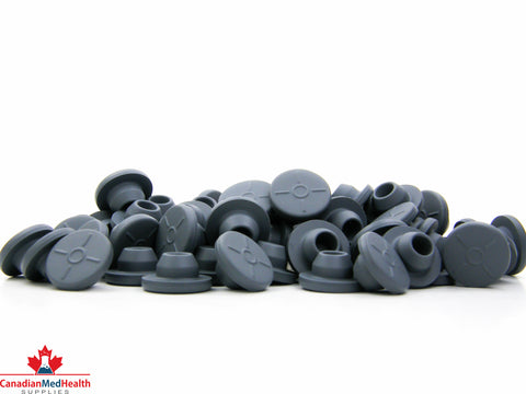13mm Butyl Rubber Stopper - Grey - CanadianMedHealthSupplies