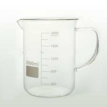 2000mL Glass Beaker with Handle - CanadianMedHealthSupplies
