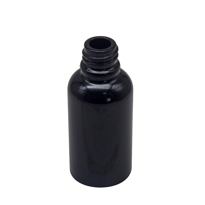 1oz (30mL) Black Glass Dropper Bottle With Dose Measuring Dropper