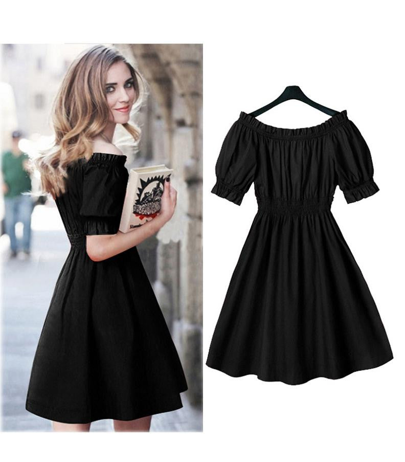 Buy Short Sleeve Casual plus size Dresses Vestidos at Marks ...