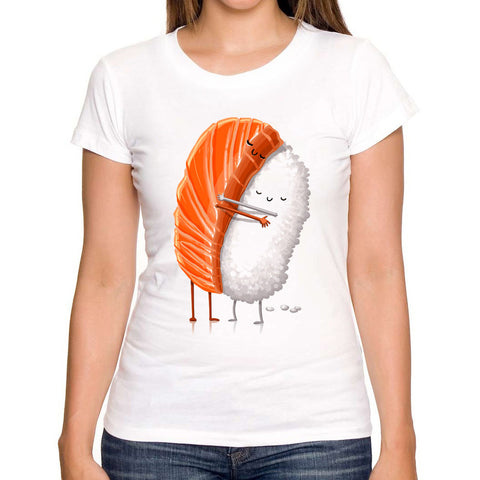 Fashion Sushi Love printed women t-shirt