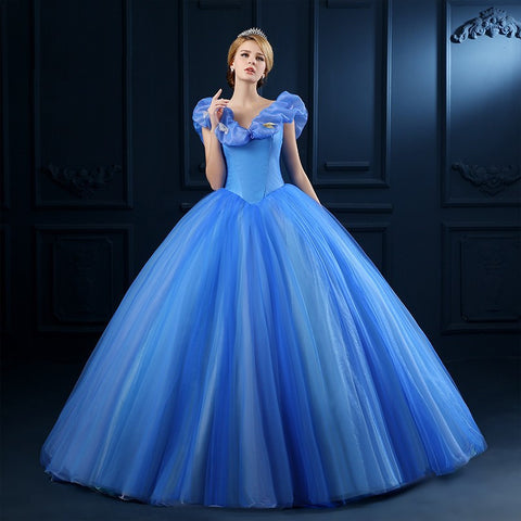 Blue Cinderella Dress Halloween