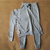 Sweatshirt Spell colors Suit female Pullovers casual tracksuits Set