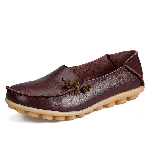 Genuine Leather Women Flat Shoe
