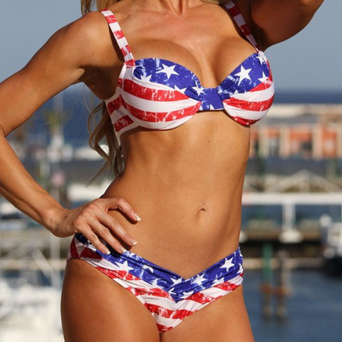 Bikini Set Thong Swimsuit 4th July