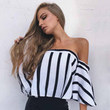 Vintage Black And White Striped Shirt