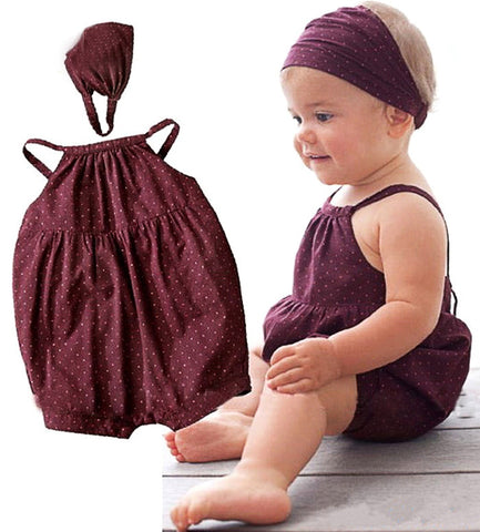 Baby Rompers Cotton Harnesses+Head belt 2pcs Baby Clothing