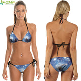 Bikini Set Blue Stars Swimwear Two-Pieces Swimsuit 4th July