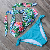 Swimsuit push up halter bikini Beach