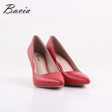 Bacia New Sheep skin High Heels Women