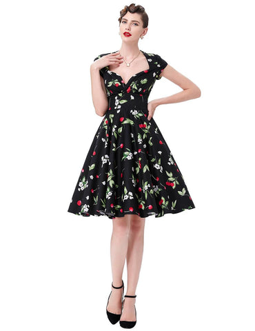 Belle Poque Audrey Hepburn Robe Retro Rockabilly Dress