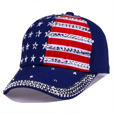 Bling Rhinestone Stripe Stars 4th July