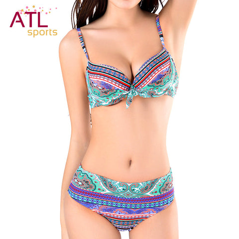 Push-Up Swimsuit Padded Bikini Set Beach