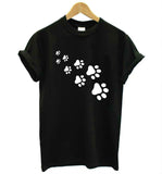 Cat paws print Women t-shirt