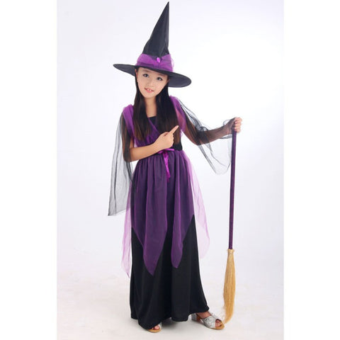 Black Fly Witch Purple Dress and Hat Halloween Clothing for Kids  sc 1 st  Marks Urban Wear & Buy Black Fly Witch Purple Dress and Hat Halloween Clothing for Kids ...