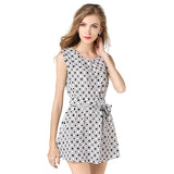 Femme Jurken New Mujer Beautiful Plaid Sleeveless