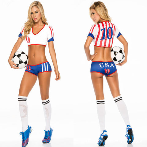 Fantasy Soccer Sexy Shorts Cheerleaders Halloween