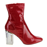 Clear Lucite Heel Ships From The US