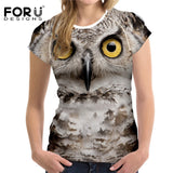 FORUDESIGNS 3D Printed Animal T-shirts