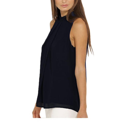 Casual Chiffon Sleeveless Hollow Out Back Top