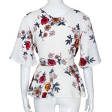 Plus Size V Neck Floral Print