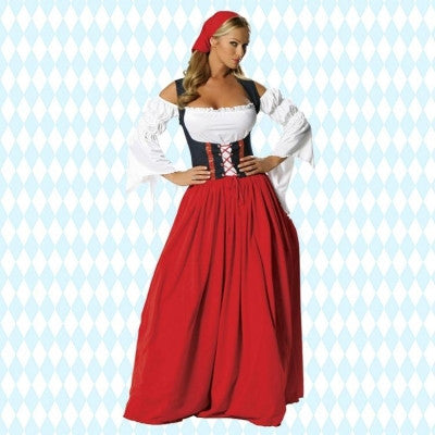 New German Oktoberfest Adult Beer Maid Wench Halloween size s-6xl