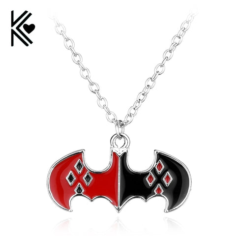 The Batman Harley Quinn Logo Necklace Halloween Costume