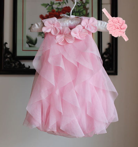 Chiffon Birthday Dress Baby Clothing