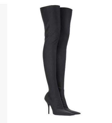 Over The Knee Boots Women Sexy Pointy Toe Stiletto