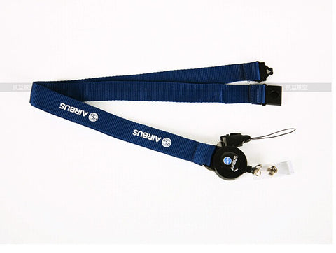 New Airbus Blue Lanyard