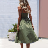 Boho Style Spaghetti Long Dress