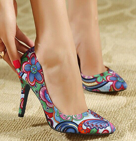 Embroider Summer Pumps
