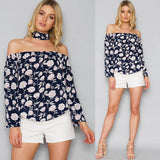 Summer Off Shoulder Floral print Blouse