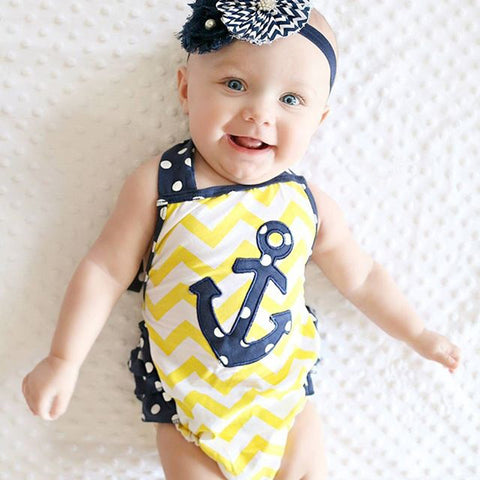 Anchors Romper Halter Baby Clothing