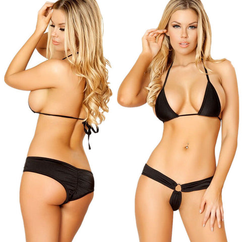 Brazilian Triangle Bikini Women Bandage Mini Micro Swimwear