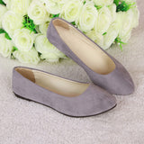 JOYHOPY 20 Colors Spring Flock Women Flats Shoes