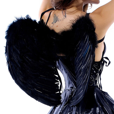 Sexy Dark Angel Wings Halloween