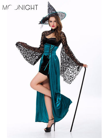 MOONIGHT Sexy Witch Halloween Costume Deluxe Adult Womens Magic Moment  sc 1 st  Marks Urban Wear & Shop for Costumes at Marks Urban Wear® : Halloween halloween ...