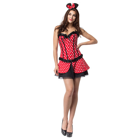 Luxury Red Polka Dot Mickey Halloween