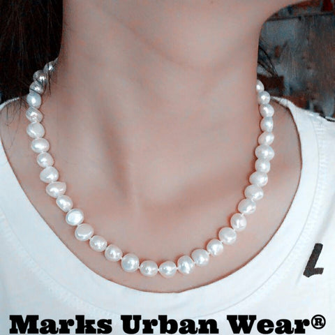 Freshwater Pearl Stone Genuine Baroque Pearl Jewelry Necklace Today's Sale