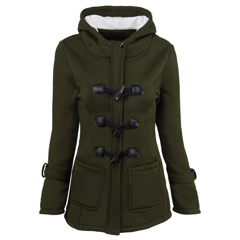 Zipper Horn Button Outwear Jacket