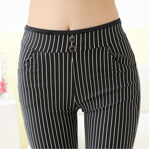 Stripes Ankle-length Pants Trousers