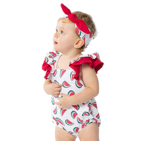 Cool Cotton Bodysuit for Baby Girl Watermelon Baby Clothing