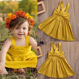 Sleeveless Cotton Tutu Bow Dress Baby Clothing