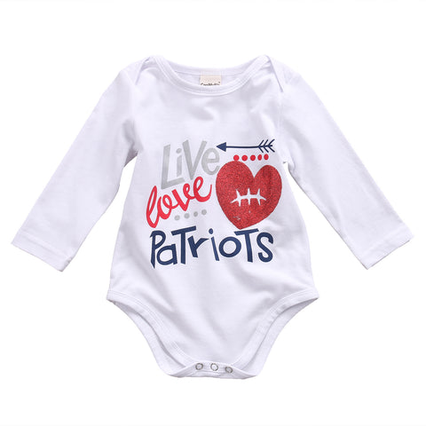 Newborn Baby boys/girls letter Bodysuit Baby Clothing