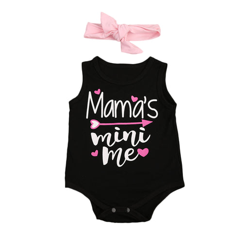 Newborn Infant Baby Girl cotton letter Romper Baby Clothing