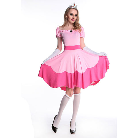 Princess Peach Super Mario Brothers Halloween  sc 1 st  Marks Urban Wear & Shop for Costumes at Marks Urban Wear® : 60u0027s 70u0027s halloween adult ...