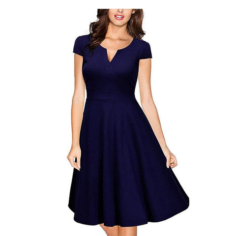 Formal V Neck Bodycon Knee Length A-line Dresses