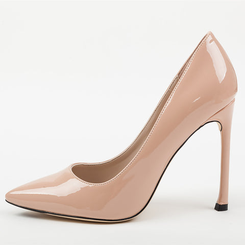 High Heels Nude PU Leather Pumps