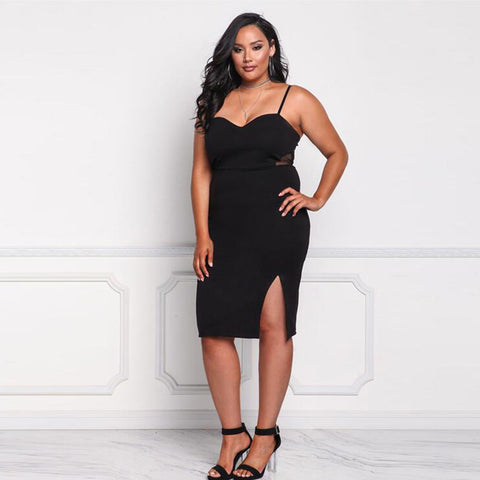 Plus Size Sexy Sleeveless Spaghetti Strap Dress